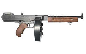 Auto Ordnance Model 1927A1 Deluxe Rifle T1100D, 45 ACP, 16.5 in, Walnut Stock, Blk Finish, Adj Sights, 30/100 Rd