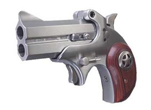 Bond Arms Cowboy Defender Derringer CD45ACP, 45 ACP, 3 in, Rosewood Grips, Stainless Finish, 2 Rd