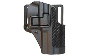 Blackhawk 410029BKR CQC SERPA Belt Holster Right Hand Black Carbon Fiber Taurus 24/7 Gen 1 Belt Loop and Paddle