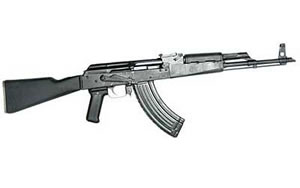 Century Arms WASR 3 Rifle RI1515N, 7.62 X 39, 16 in, Syn Stock, Black Finish, Adj Sights, 30 Rd, Threaded Slant Brake, 2 Mags