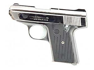 Cobra CA380 Micro Compact Pistol CA380CB, 380ACP, 2.8 in, Synthetic Grips, Chrome Finish, Fixed Sights, 5 Rd, SA