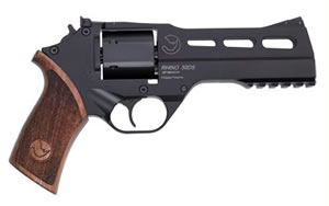 Chiappa Rhino Revolver R50DS, 357 Mag, 5 in, Rubber Grips, Black Finish, Fixed Sights, 6 Rd