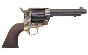 Cimarron Pistolero Revolver MP440, 357 Mag, 4.75 in, Wood Grips, Original Finish, 6 Rd