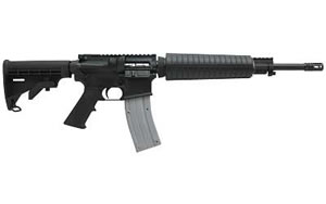 CMMG MidLength 22LR Rifle 11149, 22LR, 16 in, 6 Pos Stock, Blk Finish, Flat Top, 25 Rd, Government Profile
