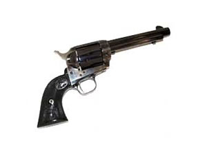 Colt Single Action Army Revolver P2850, 45 LC, 5.5 in, Color Case Blued Finish, Fixed Sights, 6 Rd