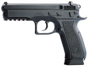CZ Model SP01 Phantom Pistol 01158, 9MM, 4.6 in, Black Finish, Fixed Sights, 10 Rd, 2 Mags, DAO, Decocker