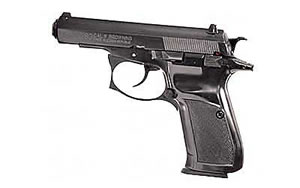 CZ Model 83 Compact Pistol 91305, 32 ACP, 3.8 in, Plastic Grips, Blue Finish, Fixed Sights, 15 Rd