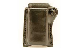 Don Hume G417 Snap On Mag Pouch Black Glock 17 Glk 17,19,22,23,24,26,27,31,32,33,34,35,37,38,39 Leather D733413