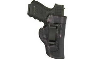 Don Hume J168067L Clip On H715-M Holster Left Hand Black 2 in S&W .38 Body Guard with Laser Leather