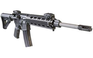 DPMS Panther Recon Rifle RFA3REC, 223 Rem, 16 in, Magpul MOE Stock, Blk Finish, Front/Rear Flip Sights, 30 Rd, Mid Length