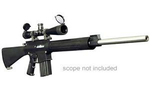 DPMS Panther LR-308 Rifle RFLR308UG, 308 Win, 24 in, Black Stock, Matte Finish, 19 Rd, STS Fluted BBL, Clean Kit, 2 Mags