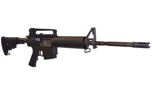 DPMS Panther LR308 AP4 Rifle RFTLRAP4, 308 Win, 16 in, Black Stock, Matte Finish, A2 Front w/Detach rear, 10 Rd, Bullet Button