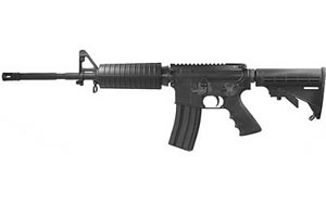 DSA AR15 M4 Rifle DSZM4CV1R, 5.56 NATO, 6 Pos Stock, Blk Finish, Flat Top, 30 Rd