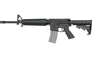 DSA AR15 M4 Rifle DSZM4MIDLENGTH, 5.56 NATO, 6 Pos Stock, Blk Finish, Flat Top, 30 Rd, Md Length