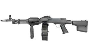 DSA RPD Carbine RPDCARBINE, 7.62 x 39mm, 17.5 in, Troy Battle AX Stock, Blk Finish, Adj Sights, 100 Rd