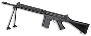 DSA STG58 Rifle STG58C18, 308 Win, 18 in, Syn Stock, Blk Finish, Adj Sights, 20 Rd