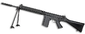 DSA STG58 Rifle STG58STD, 308 Win, 21 in, Syn Stock, Blk Finish, Adj Sights, 20 Rd
