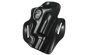 "Desantis 002 Speed Scabbard Belt Holster Right Hand Black 2"" Taurus Public Defender Leather Non-Lined 002BAI6Z0"