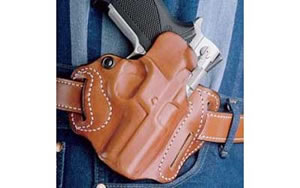 "Desantis 002 Speed Scabbard Belt Holster Right Hand Tan 2"" S&W Bodyguard .38 With Insight Laser Leather 002TAU8Z0"