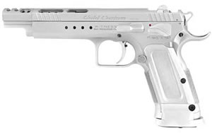 EAA Gold Witness Pistol 600090, 45 ACP, 6 in Ported, Alum Grips, Chrome Finish, No Sights, 10 Rd