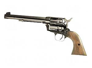 EAA Bounty Hunter Revolver 770022, 45 LC, 6.75 in, Walnut Grips, Blue Finish, Fixed Sights, 6 Rd