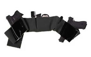 Galco UWBKLG Belly Band Underwraps Holster Black Lg (42-46)
