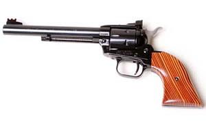 Heritage Rough Rider Revolver RR22999MB6, 22WMR, 6.5 in, Cocobolo Grips, Blue Finish, Fixed Sights, 9 Rd
