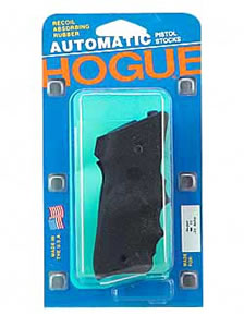 Hogue 82060 Grip Rubber Black w/Finger Grooves & Right Hand Thumbrest Wraparound For Rug MK II