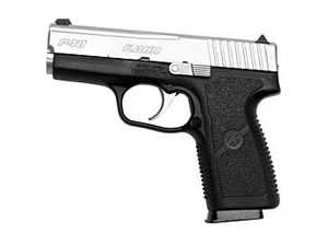 Kahr Model P40 Compact Pistol KP4043N, 40 S&W, 3.5 in, Matte Stainless Finish, Night Sights, 6 Rd, 2 Mags, DAO