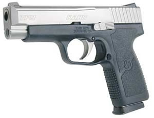 Kahr Model TP9 Compact Pistol TP9093NOV, 9MM, 4 in, Polymer Grips, Matte Stainless Finish, Novak FNS, 7 Rd, 2 Mags, DAO