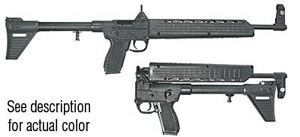 Kel Tec Sub 2000 Rifle SUB2K40HCGL22, 40 S&W, 16.1 in, Black Stock, Hard Chrome Finish, Adj Sights, 10 Rd, Glk 22 Mag