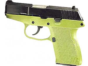 Kel-Tec Model P11 Pistol P-11GN, 9 mm, 3.1 in, OD Green Grips, Blue Finish, Fixed Sights, 10 Rd