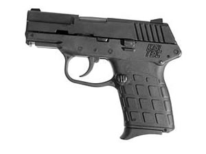 Kel-Tec Model PF-9 Pistol PF-9PKGY, 9 mm, 3.1 in, Gray Grips, Parkerized Finish, Fixed Sights, 7 Rd