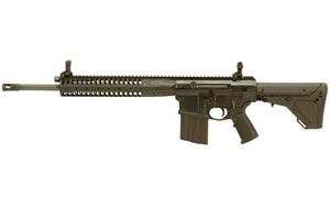 LWRC REPR Rifle REPRR7B18, 7.62 NATO, 18 in, Magpul UBR Stock, Blk Finish, 20 Rd, Hammer Forged, Piston/Rail