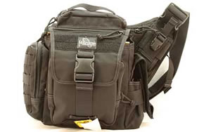 "Maxpedition Jumbo L.E.O. Bag Black Soft 9""X8""X3"" 9846B"