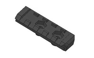 "Mission First Tactical E2PR2 E-Volv Picatinny Rail 2"" Black Std Heat Shield"