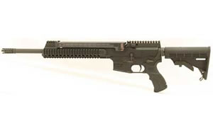 PWA Model AR57 A1 Rifle AR57A1, 5.7x28mm, 16 in, 6 Pos Collapsible Stock, Blk Finish, 50 Rd, 4 Mags