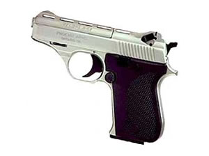 Phoenix HP25A Pistol HP25ANB, 25 ACP, 3 in, Plastic Grips, Nickel Finish, Fixed Sights, 10 Rd, SAO