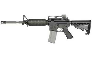 Rock River Arms LAR-15 Tactical CAR A4 Rifle AR1200, 5.56 NATO, 16 in, Hogue/6Pos Stock, Blk Finish, 30 Rd, 1:9 Carbine, Tac Handle