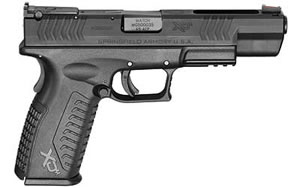Springfield Model XDM Competition Pistol XDM952545BHC, 45 ACP, 5.25 in, Black Finish, FO FS ADJ RS, 13 Rd