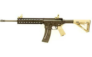 Smith & Wesson Model M&P15 Rifle 811035, 22 LR, 16.5 in, Syn Stock, Flat Dark Earth Finish, 25 Rd, Threaded