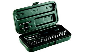 Weaver 849717 Entry Gunsmith Tool Kit, 36-Piece Set, Hard Plastic Case Black/Green