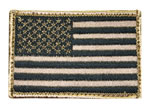 Blackhawk 90DTFV American Flag Patch H&L Tan/Black