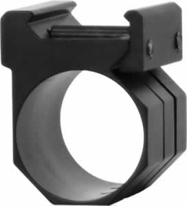 "NCStar MWM One Piece 1"" Rings & Weaver Mount For Light/Laser Black"