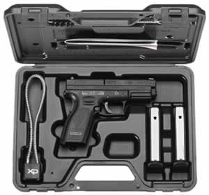 Springfield Model XD Service Pistol Essential Package XD9101HC, 9mm, 4 in in BBL, Double, Chk Polymer Grips, Black Finish, 15 + 1 Rds