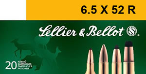 Sellier & Bellot Ammunition V330552U, 6.5x52R, Soft Point, 117 GR, 2208 fps, 20 Rd/bx