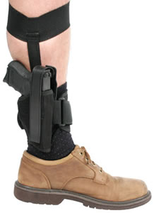 Blackhawk 40AH01BKL Ankle Holster Left Hand, Size 1, Black, 3 in -4 in Barrel Medium Frame Autos (.32-.380 Cal.)
