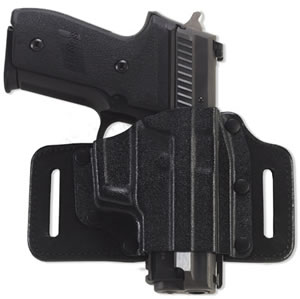 Galco TS224B Tac Slide Holster, 1.75 in Belt, Black, For Glock