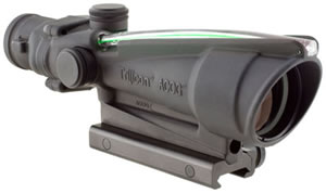 Trijicon ACOG Scope TA11FG, 3.5x, 35mm Obj, Green Chevron Reticle, w/$50 Coupon For Future Order