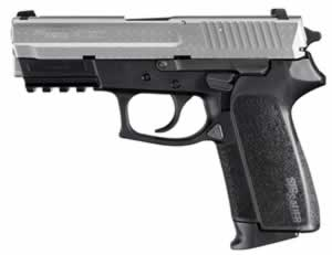 Sig Sauer Model SP2022 Diamond Plate Pistol E20229DP, 9 mm, 3.9 in, Poly Grip, 2 Tone Diamond Plate Finish, 15 + 1 Rd